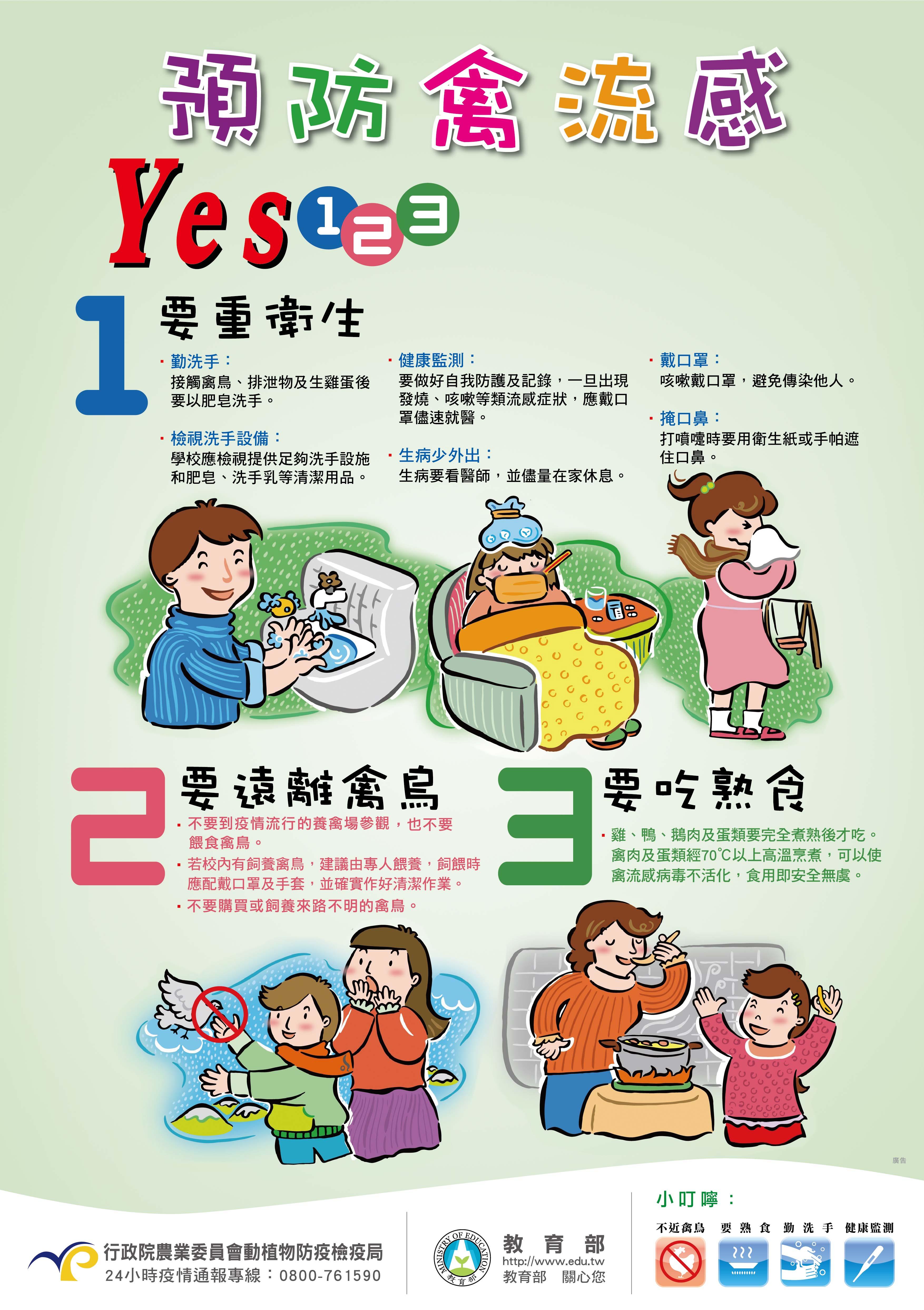 預防禽流感 Yes123