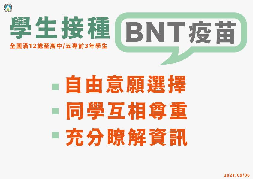1.【學生接種BNT疫苗】